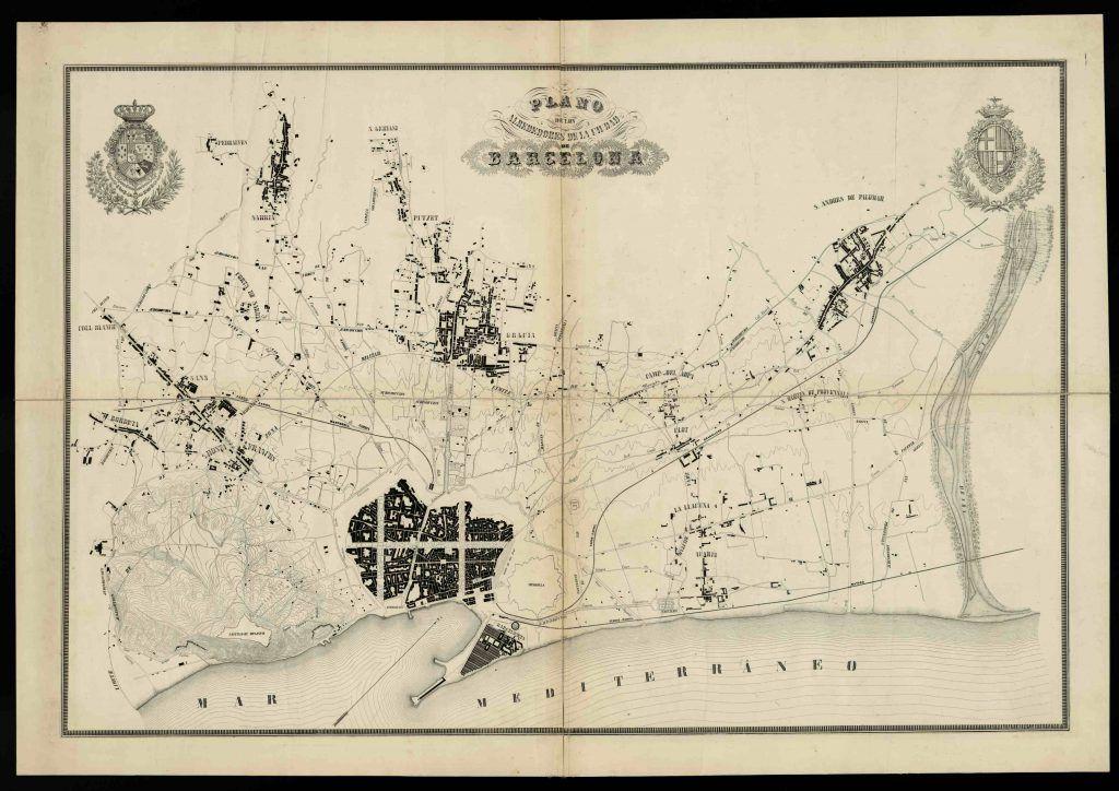 Aquí vemos el mapa topográfico de Ildefons Cerdà.