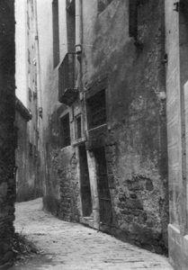 Foto antigua del carrer de les Mosques.