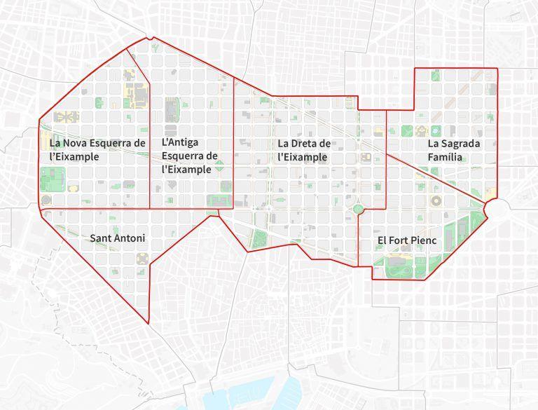 Los barrios de l'Eixample