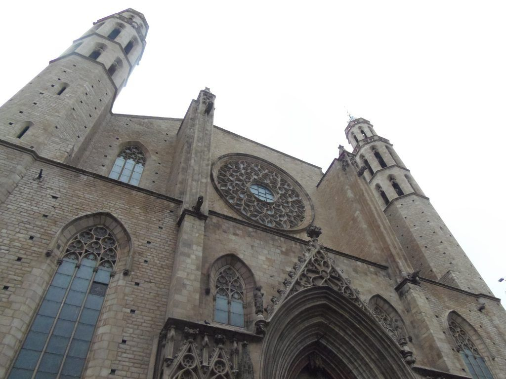 """Santa María del Mar, también conocida como """"la Catedral del Mar"""""""