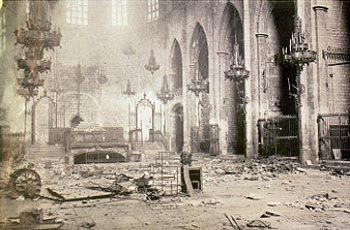 Estado en que quedó tras el incendio de 1936