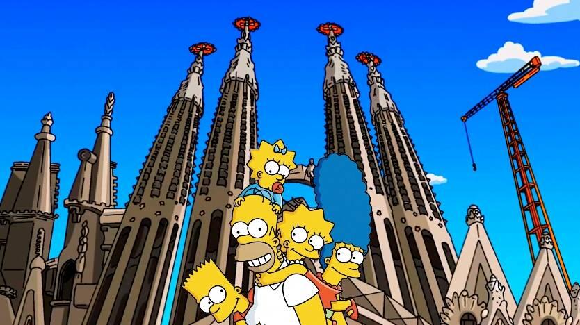 Los Simpson en la Sagrada Familia de Barcelona: Sólo se vive una vez