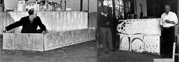 El Friso o mural de los Gigantes de Picasso del colegio de ...