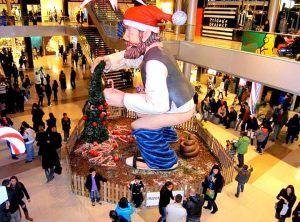 Caganer centro comercial Maremagnum.