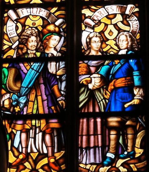 La ventana de Santa María del Mar, que relata la Guerra de Sucesiones